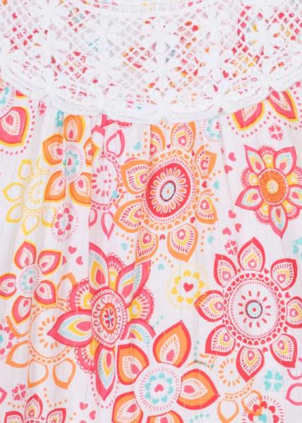 Rochie fete motiv etnic floral 3