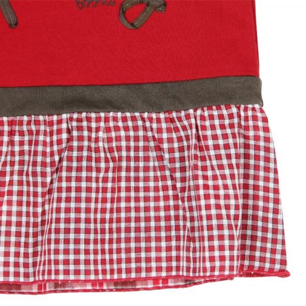 Rochie fetita cu maneca lunga, Boboli, rosie 3