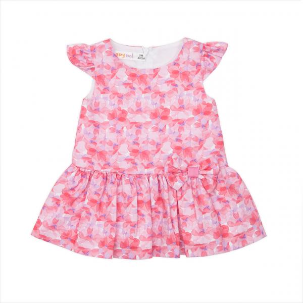 Rochie fetita , imprimeu floral, Babybol 0