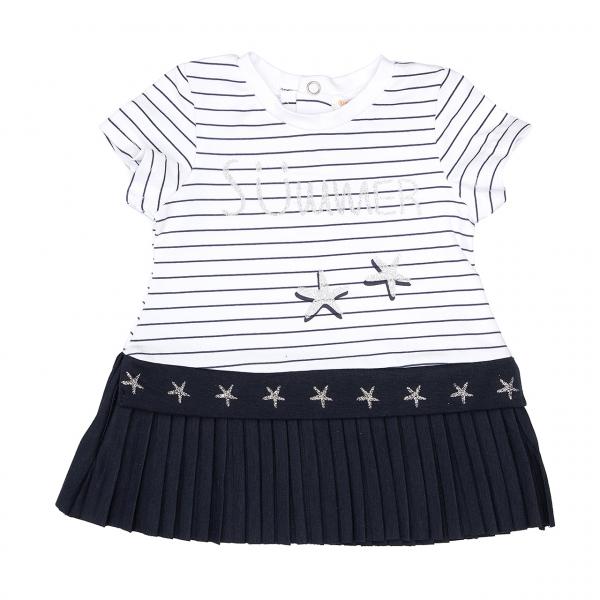 Rochie fetite din jersey, imprimeu stelute, Babybol 1