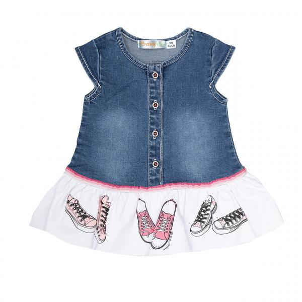 Rochie jeans , strasuri , Babybol 0