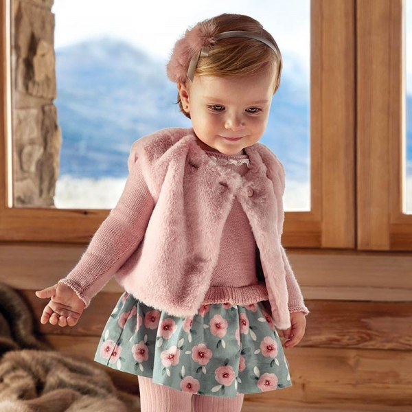 Rochie tricot combinat fetita Mayoral 2