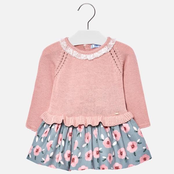 Rochie tricot combinat fetita Mayoral 0