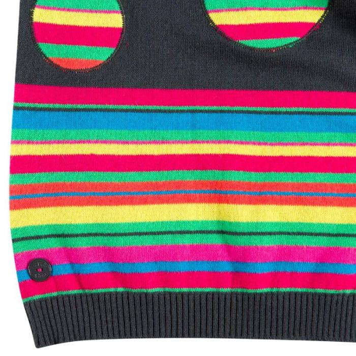 Rochie tricot cu buline multicolor, gri, Boboli [3]