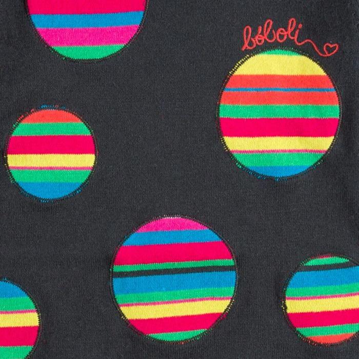 Rochie tricot cu buline multicolor, gri, Boboli [4]
