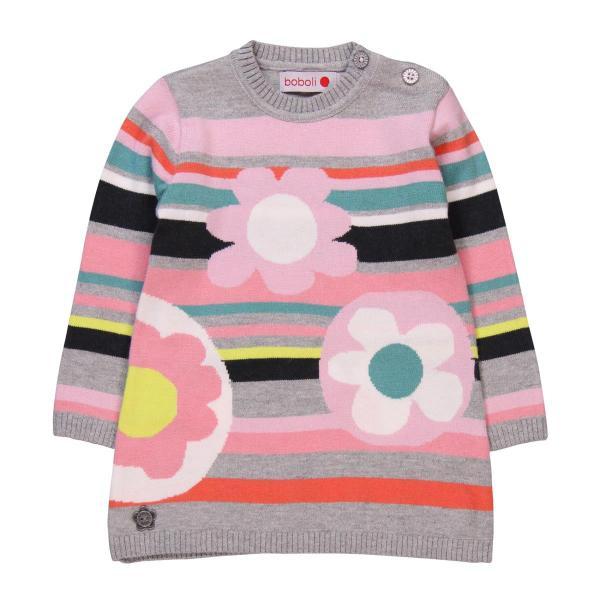 Rochie tricot cu flori Boboli 0