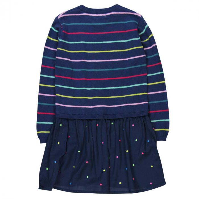 Rochie tricot cu fusta vascoza, navy, Boboli 1