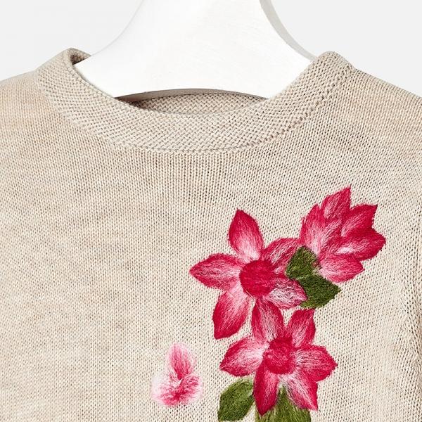 Rochie tricot Mayoral bej 2