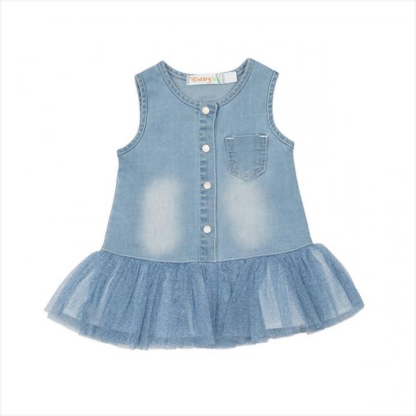 Rochita jeans cu fusta tulle blue, Babybol 0