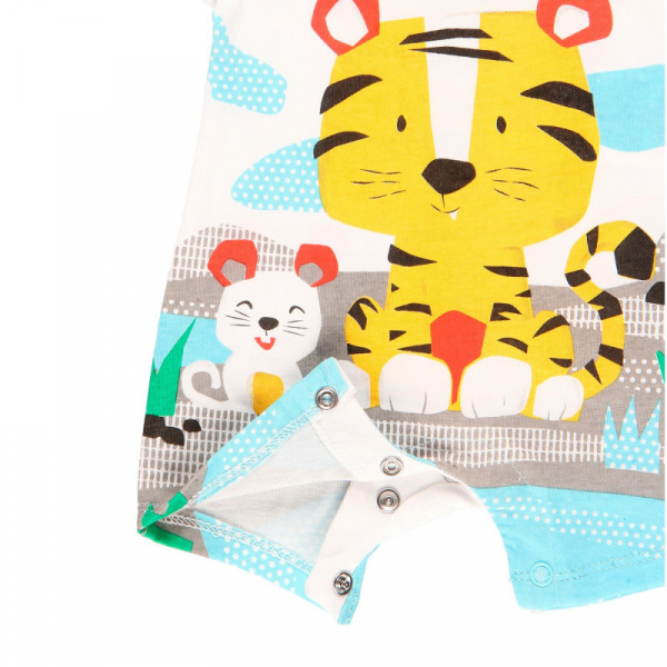 Salopeta bebe baiat, animal print, Boboli 3