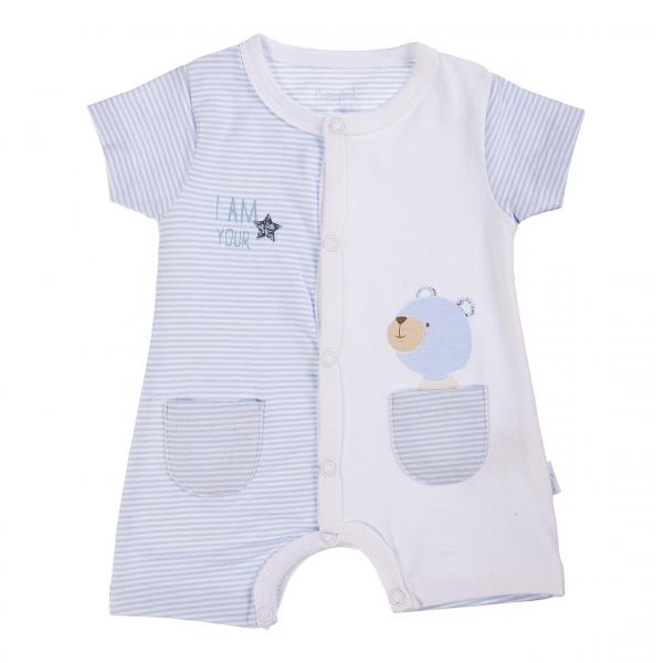 Salopeta bebe baiat, imprimeu ursulet, Babybol [0]