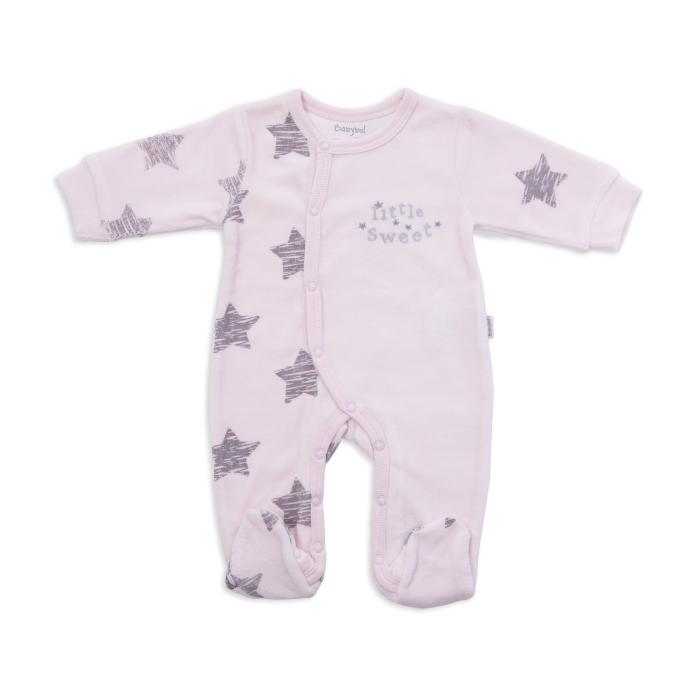 Salopeta bebe catifea roz, Babybol 0
