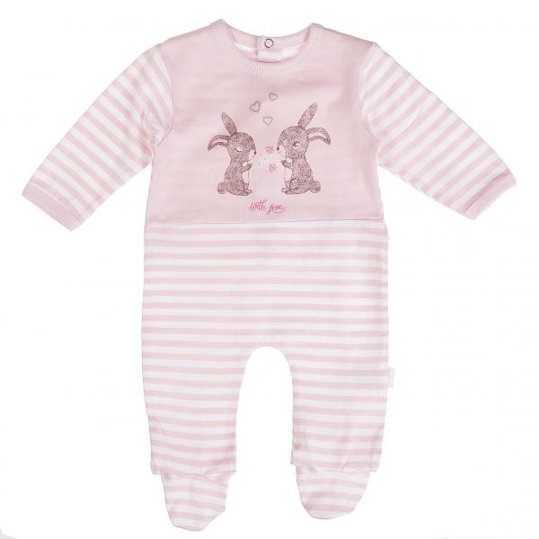 Salopeta bebe fetita, imprimeu iepurasi, Babybol [0]