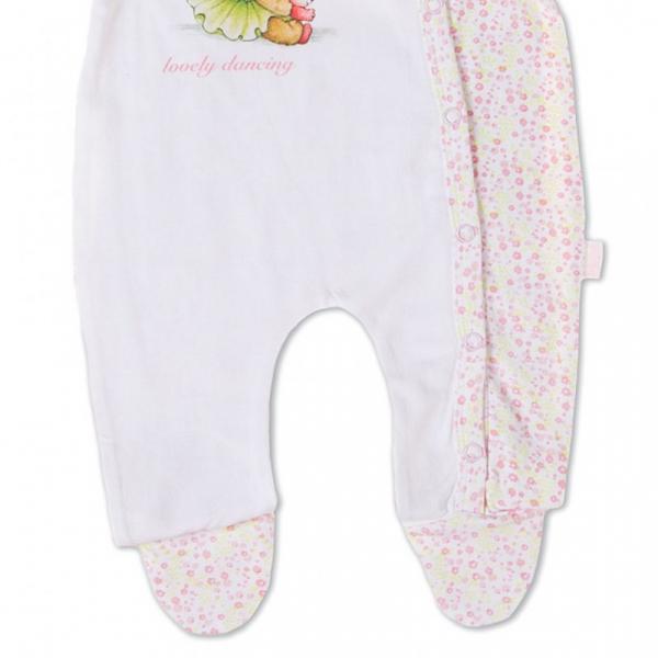 Salopeta bebe fetita, imprimeu ursulet dansator, Babybol 2