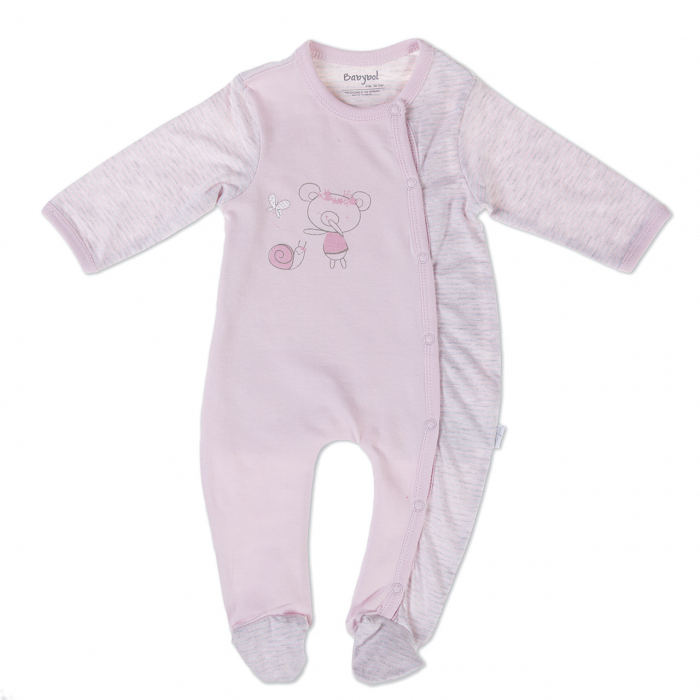 Salopeta bebe fetita, roz ,Babybol [0]