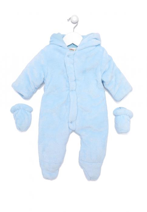 Salopeta bebe iarna vatuita blue, Babybol 0