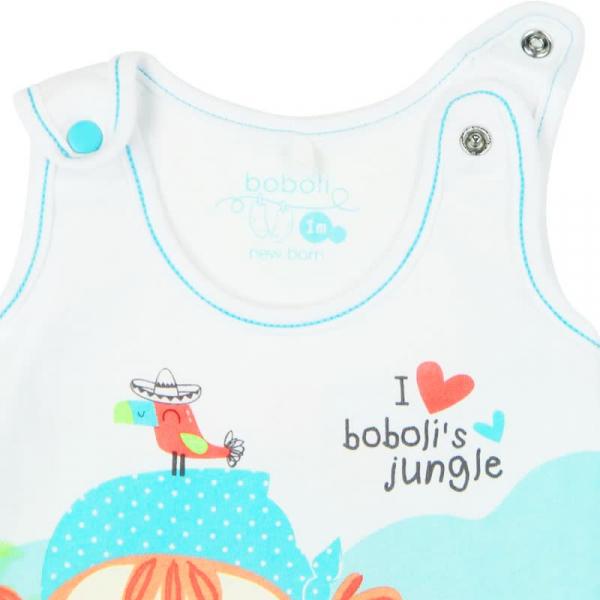 Salopeta bebe , imprimeu fetita , Boboli 2