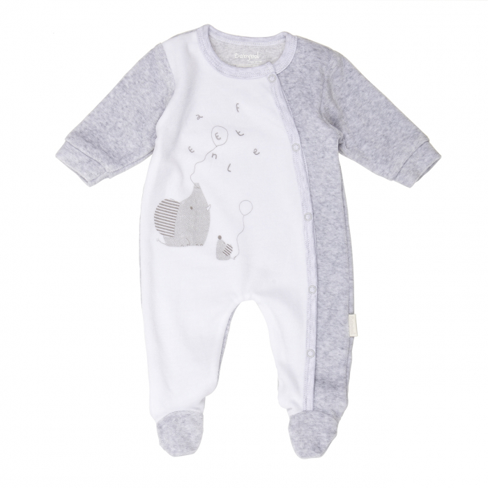Salopeta bebe , imprimeu soricei,gri, Babybol 0