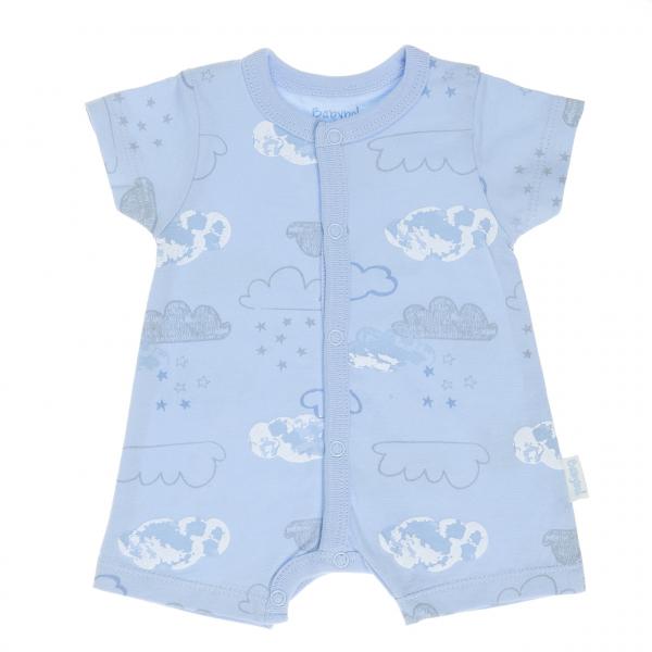 Salopeta bebe maneca scurta, imprimeu norisori , Babybol 0
