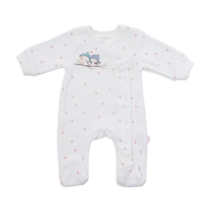 Salopeta bebe catifea Babybol 0