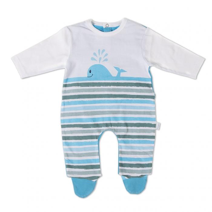 Salopeta bumbac bebe Babybol 0