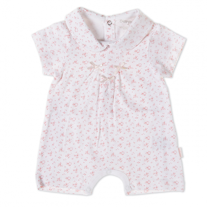 Salopeta fetite 0-18 luni, floricele roz, Babybol 0