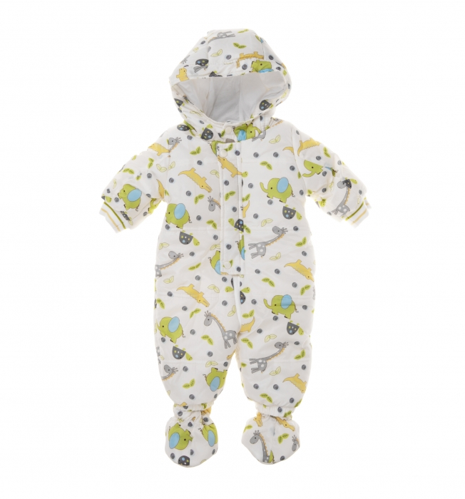 Salopeta iarna bebe Babybol, imprimeu animale 0