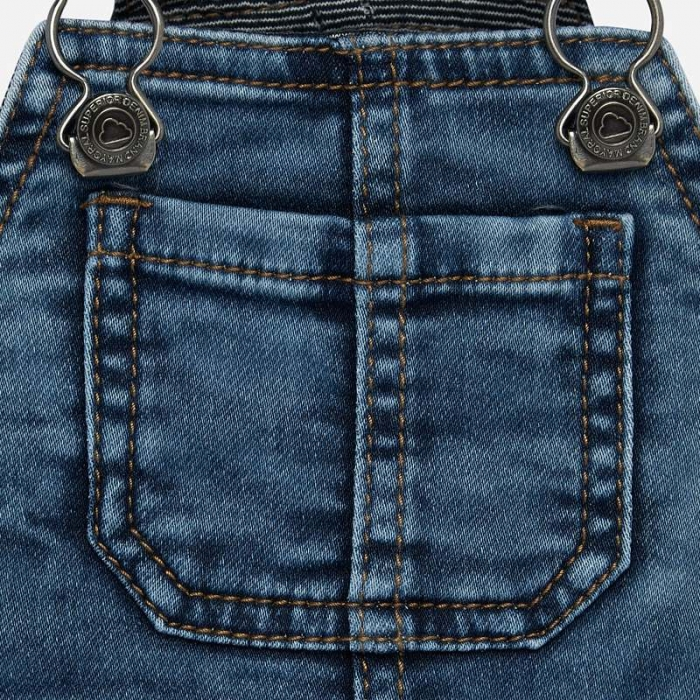 Salopeta lunga jeans bebe baiat Mayoral 2