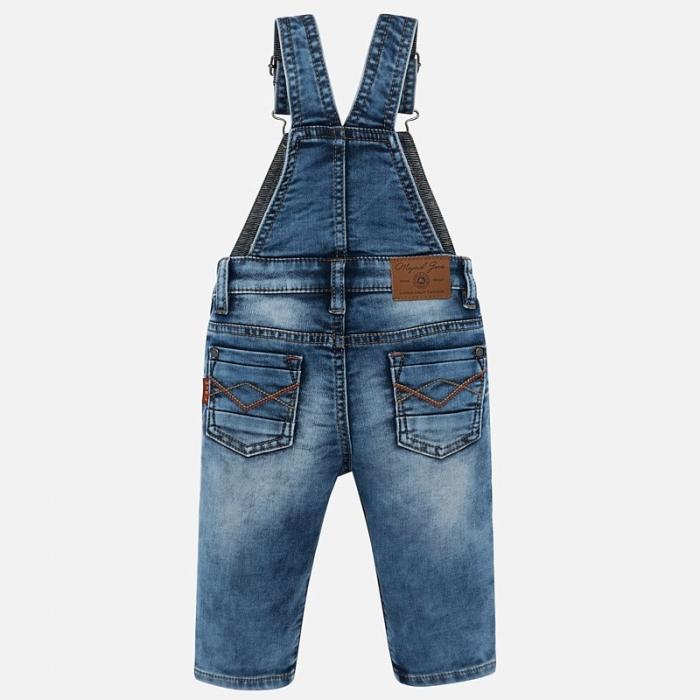 Salopeta lunga jeans bebe baiat Mayoral 1