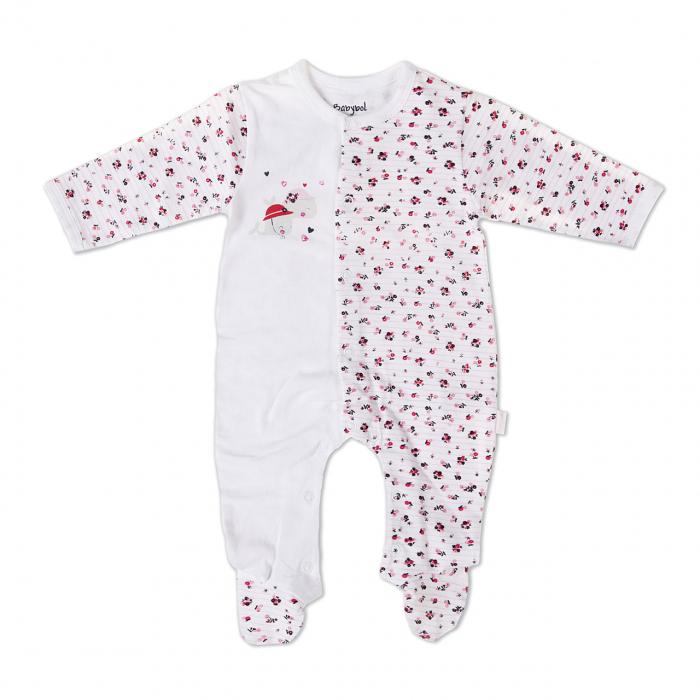 Salopeta nou nascut fetita, imprimeu floricele,Babybol 0
