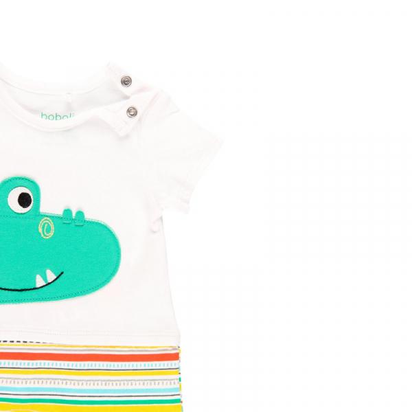 Salopeta vara bebe baiat, multicolor, Boboli 2