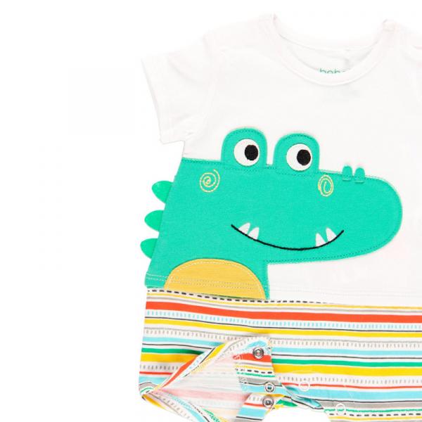 Salopeta vara bebe baiat, multicolor, Boboli 3