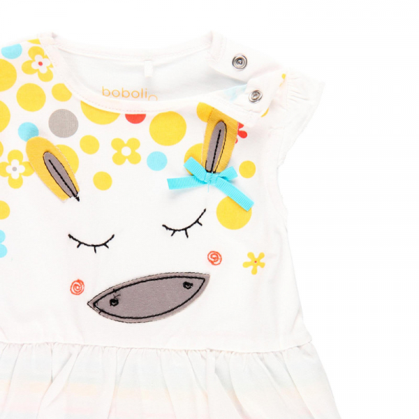 Salopeta vara bebe fetita, multicolor, Boboli 3