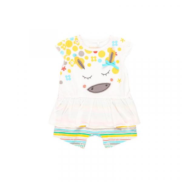 Salopeta vara bebe fetita, multicolor, Boboli 0
