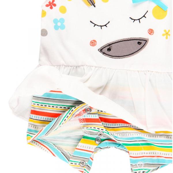 Salopeta vara bebe fetita, multicolor, Boboli 2