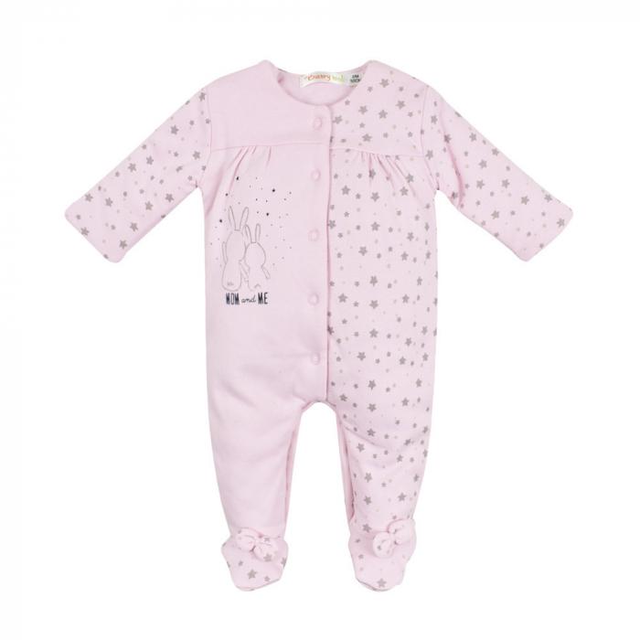 Salopeta vatuita bebe fetita, roz, Babybol 0