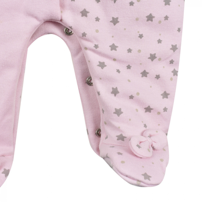 Salopeta vatuita bebe fetita, roz, Babybol 3