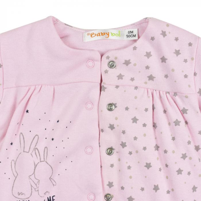 Salopeta vatuita bebe fetita, roz, Babybol 2