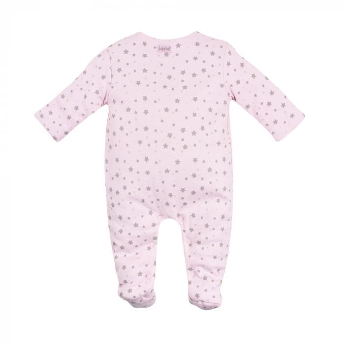 Salopeta vatuita bebe fetita, roz, Babybol 1