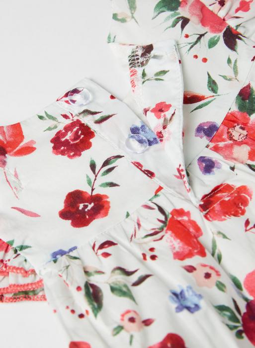 Set 2 piese vara fete, bluza imprimeu floral si jeans scurt , Babybol [3]