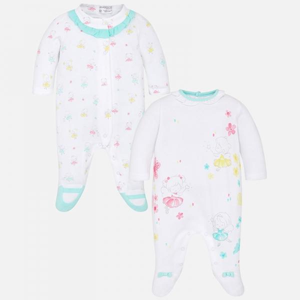 Set salopete bebe fetita, imprimeu fetite Mayoral 0
