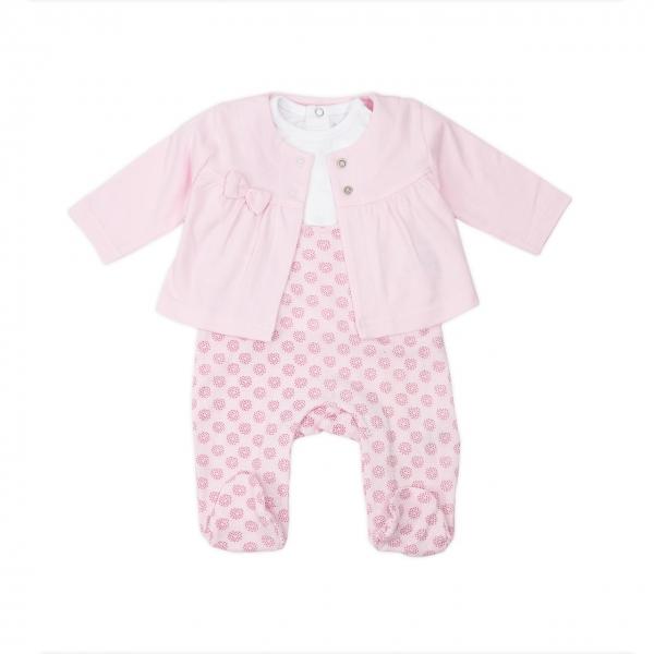 Set 3 piese bebe roz Babybol Barcelona 0