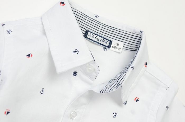 Set baiat camasa maneca lunga si pantalon chino navy , Babybol 1