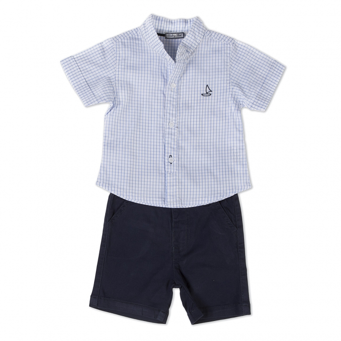 Set baiat camasa  si pantalon scurt Babybol 0