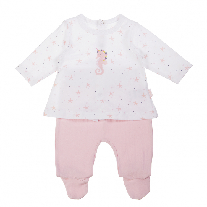 Set bebe fetita , bluza si pantalon cu botosel, Babybol 0