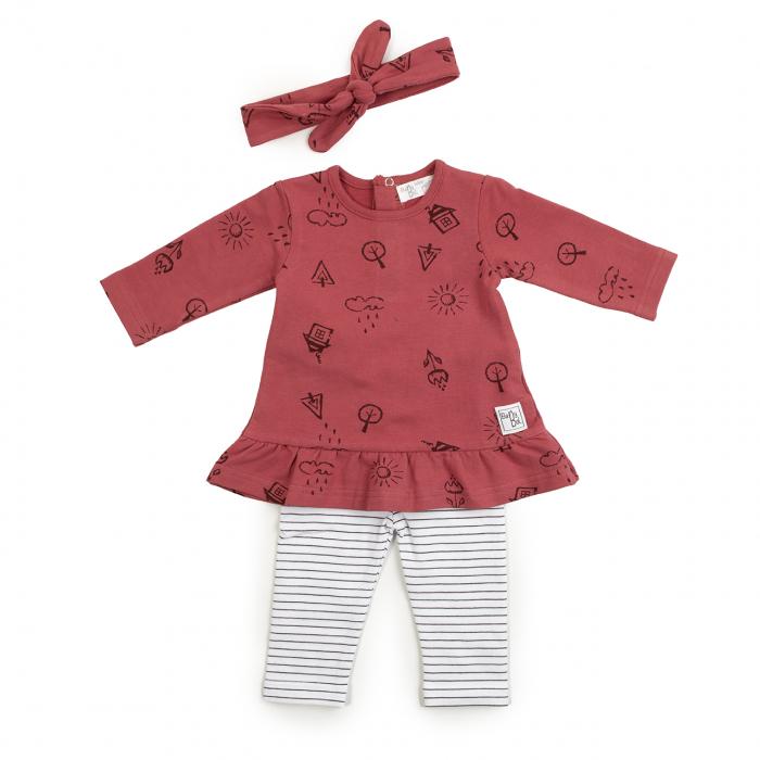 Set bebe rochita cu colant si bandana, Babybol [0]