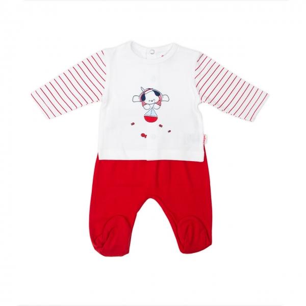 Set bebe tricou+pantalonas Babybol rosu 0