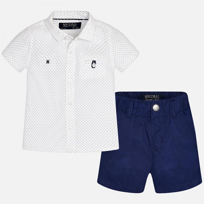 Set camasa si pantalon scurt navy Mayoral 0