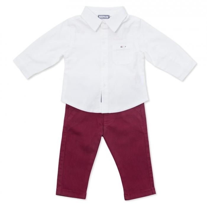 Set elegant baieti camasa alba si pantaloni , Babybol Barcelona 0