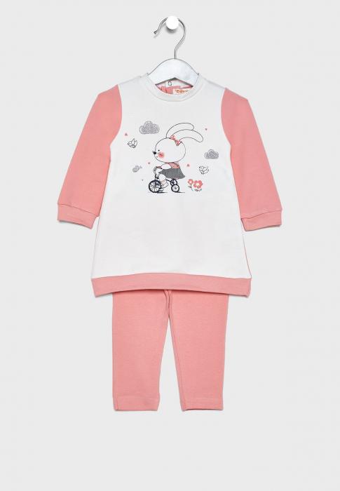 Set fetita 2 piese, rochie si colant, somon, Babybol [0]